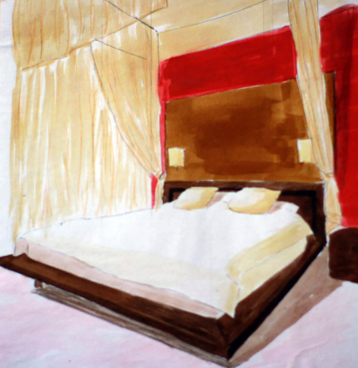 Baldachinos ágy